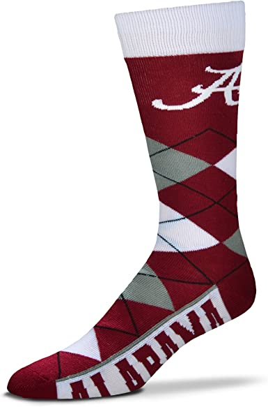 NCAA Pretty in Pink Womens Crew Socks For Bare Feet