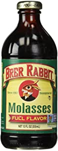 Brer Rabbit Full Flavor All Natural Unsulphured Molasses (Pack of 2) 12 oz Jars