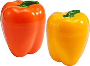 Hutzler Yellow Pepper Saver and Orange Pepper Saver Set