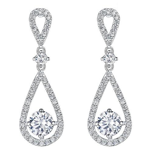 grandes variedades ofertas exclusivas estilo exquisito FANZE - Pendientes para novia o dama de honor con símbolo de ...