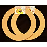 "2 Pack, 9"" Biodegradable Floral Craft Ring, Ez Glueable Wreath / Laurel Form, for Photo Frame, Candle Ring, Etc"