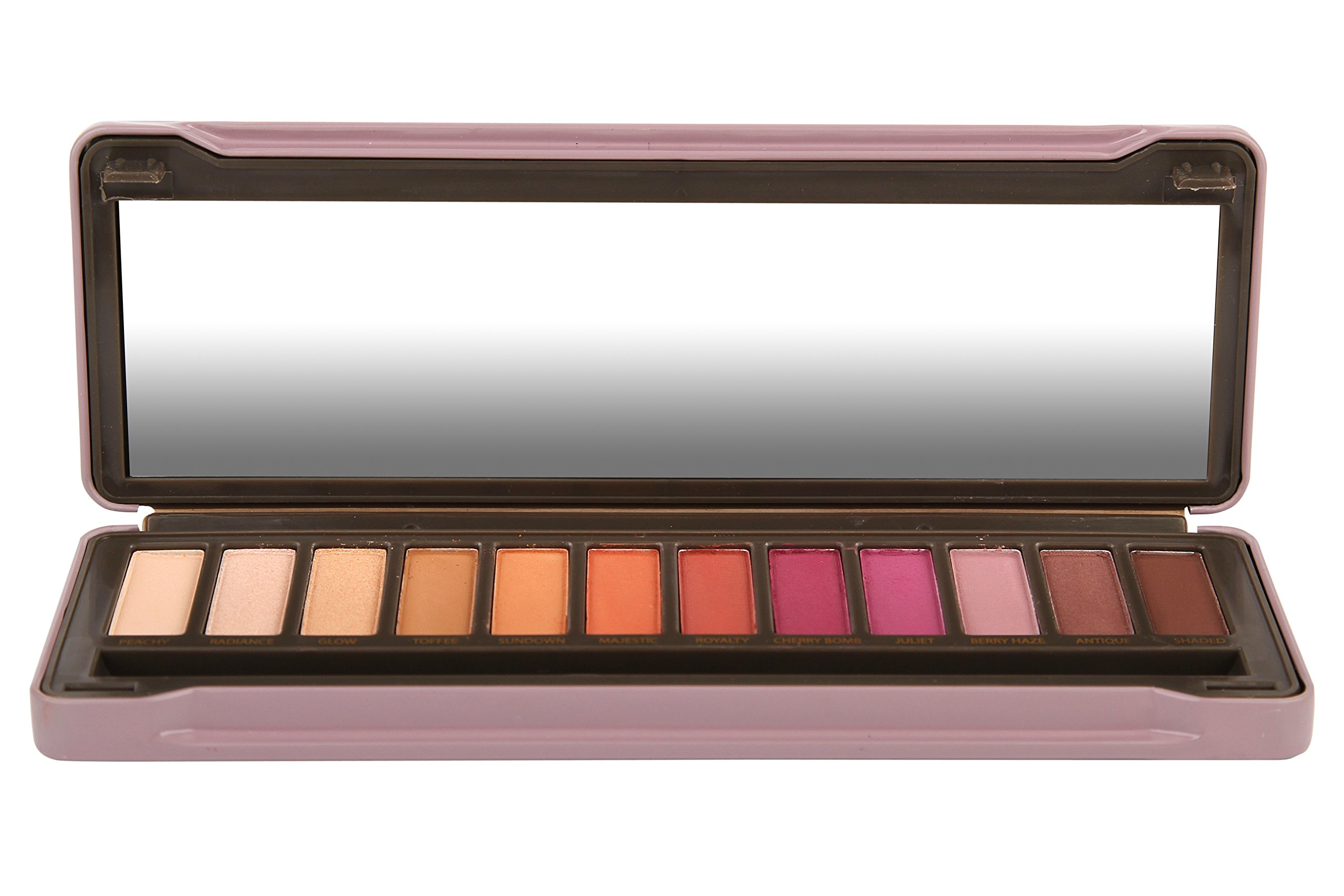 BYS Berries Eyeshadow Palette Tin with Mirror Applicator 12 Matte & Metallic Shades by BYS (Image #4)