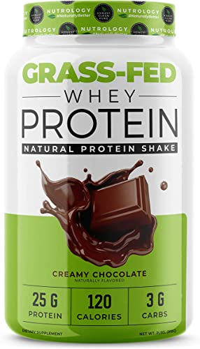 Grass-Fed Whey Protein - Non-GMO - Cold Processed - Chocolate Protein Powder - 2lbs.