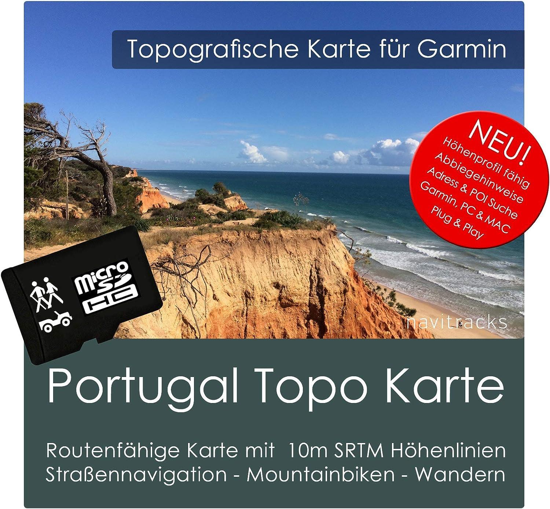 Portugal Carte Garmin Topo 4 Go Micro SD Carte de loisirs. Carte Topographique GPS pour vélo randonnée Randonnée Trekking Geocaching & Outdoor. GPS, PC et Mac: Amazon.es: Software