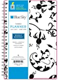 "Blue Sky 2017-2018 Academic Year Weekly & Monthly Planner, Twin-Wire Bound, 5"" x 8"", Analeis"