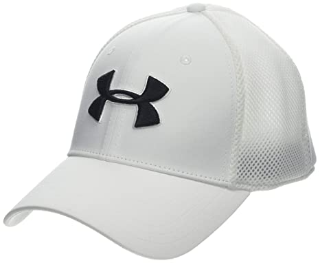 Amazon.com  Under Armour Men s Microthread Golf Mesh Cap  Sports ... 1d6e07878a1