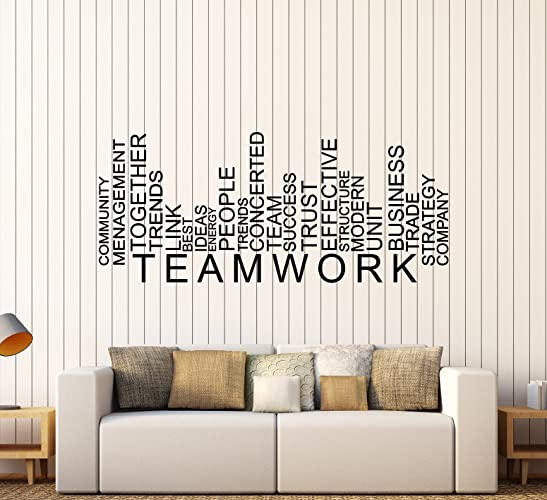 Vinyl Wall Decal Teamwork Words Business Office Decor Stickers Large Decor  (1609ig)