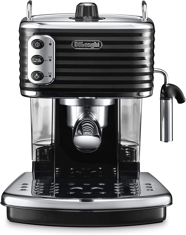 DeLonghi ECZ351.BK Cafetera Semi-automática, Independiente, 1100 W, 1.4 L, acero inoxidable, negro y gris: Amazon.es: Hogar