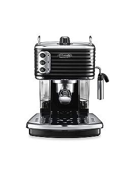 DeLonghi ECZ351.BK Cafetera Semi-automática, Independiente, 1100 W, 1.4 L, acero inoxidable, negro y gris