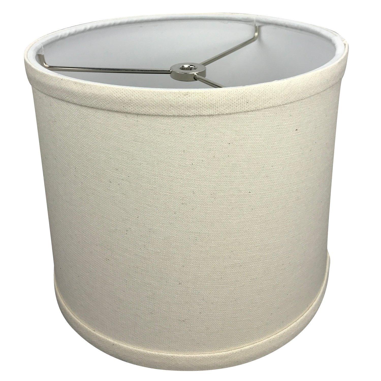 FenchelShades.com 8'' Top Diameter x 8'' Bottom Diameter 7'' Height Cylinder Drum Lampshade with Washer (Spider) Attachment USA Made (Homespun Beige)