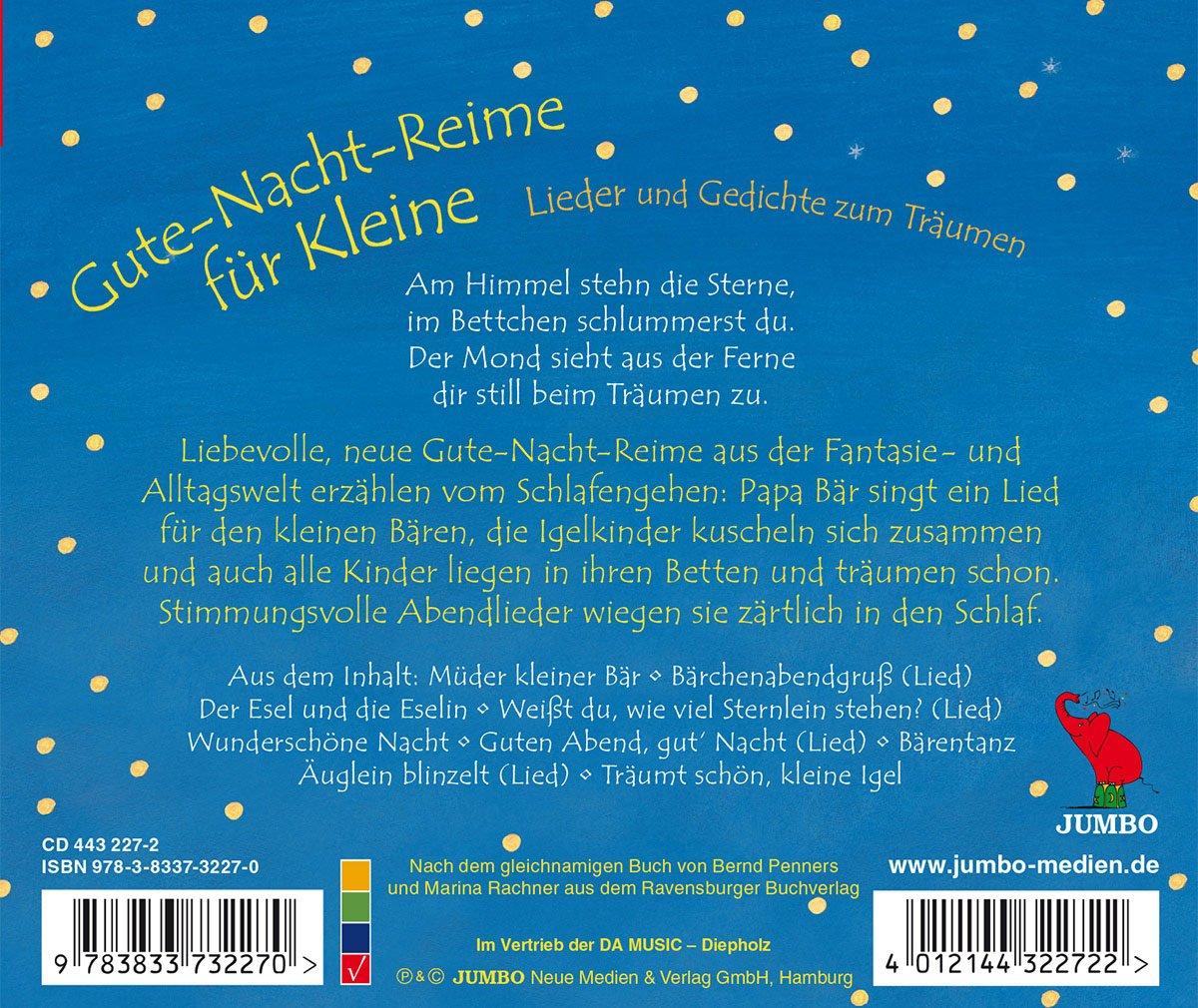 Audiobook Gute Nacht Reime Fuer Amazoncom Music