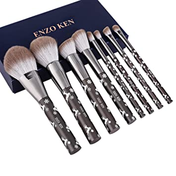 Amazon.com: Brochas de maquillaje con estuche de cosméticos ...
