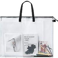 Art Portfolio Bag Poster Storage Bag Board Holder with Handle and Zipper 19 x 25 Inch Organizer Transparent Bag for…