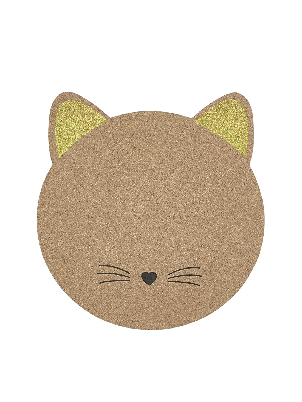 VERTBAUDET Kork-Pinnwand mit Katze natur kork ONE SIZE