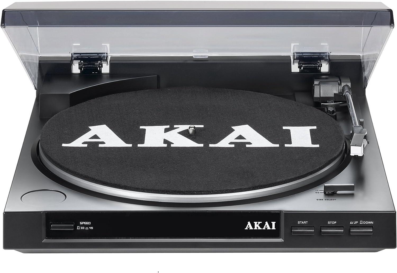 AKAI ATT01U - Tocadiscos USB 2.0, negro: Amazon.es: Electrónica