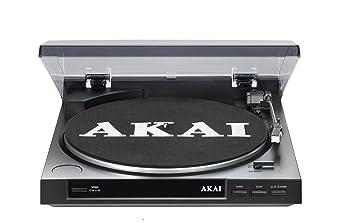 AKAI ATT01U - Tocadiscos USB 2.0, negro