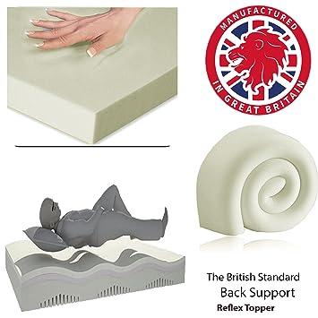 Colchón ortopédico RF5ltd, de espuma de memoria de gel, 5,08 cm (2 pulgadas) de espesor, Light Cream (Ivory), cama doble: Amazon.es: Hogar