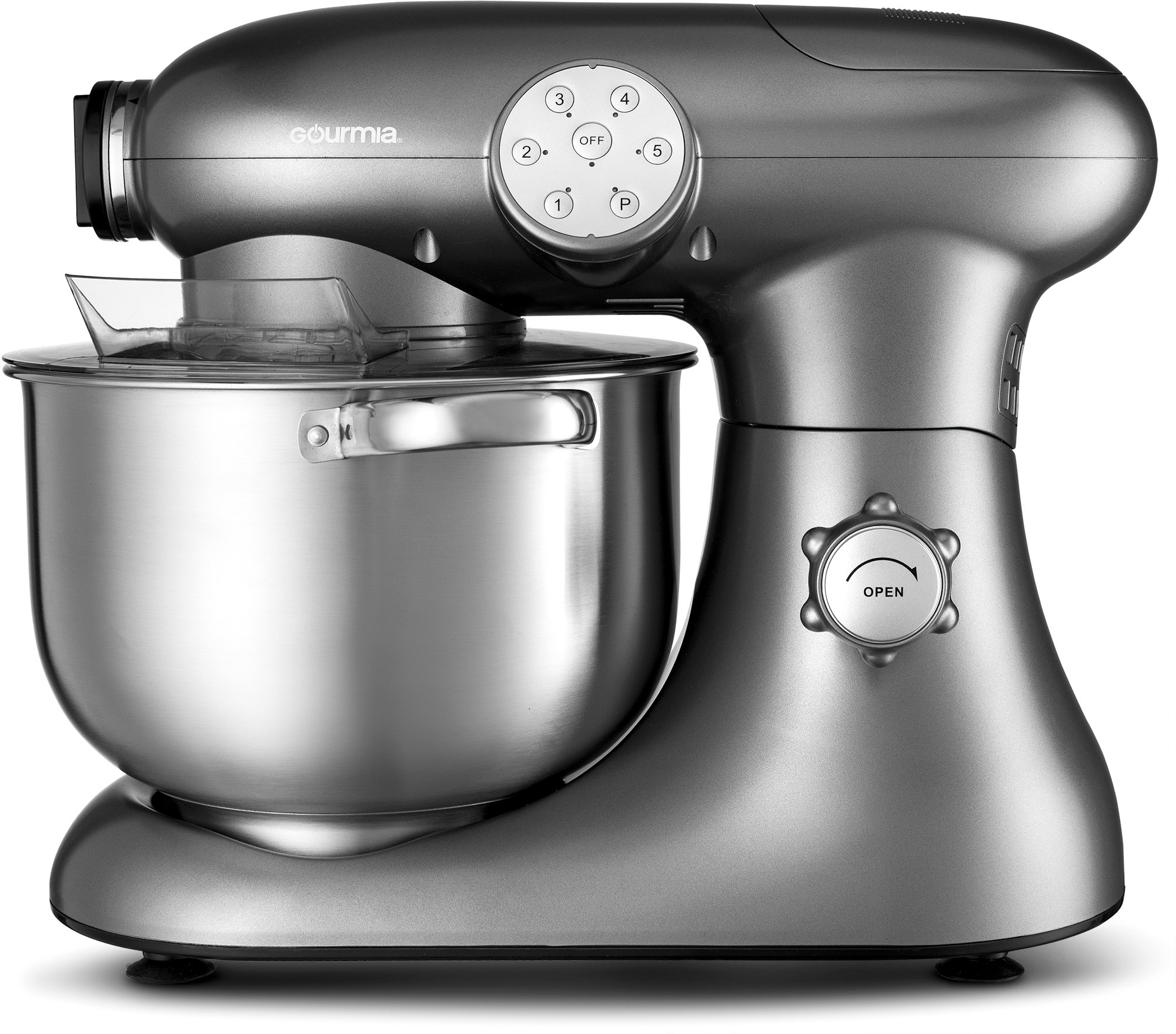 Gourmia EP700 7-Quart 6 Speed Stand Mixer, Planetery Action with Stainless Steel Bowl by Gourmia (Image #2)