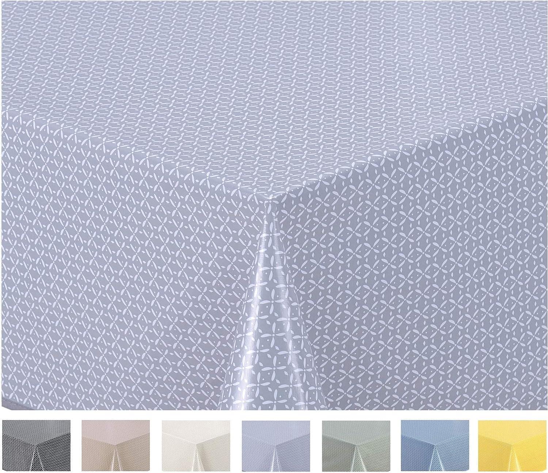 Home Direct Nappe Toile cir/ée PVC Ronde 160 cm Beige
