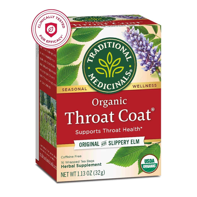 Traditional Medicinals Organic Throat Coat Seasonal Tea, 16 Tea Bags(Pack of 6) : Herbal Teas : Grocery & Gourmet Food