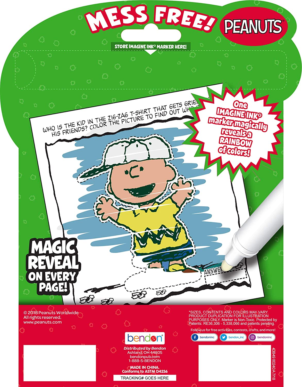 Bendon 43849 Peanuts Imagine Ink Magic Ink Pictures