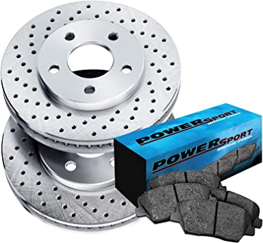 For 2015-2017 Honda Odyssey Rear Drill Slot Brake Rotors Ceramic Brake Pads