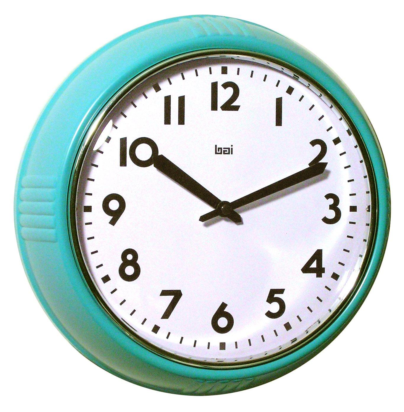 Bai School Wall Clock, Turquoise