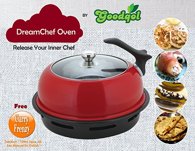 Goodqol î Dream Chef Oven indoor BBQ, Tandoori, baking Oven, Grill : fabulous and unique new way of cooking by Goodqol î: Amazon.es: Hogar
