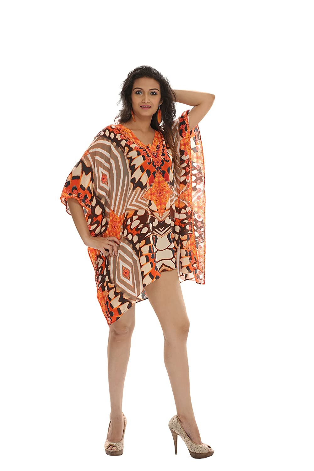ea22cb3a0d Made In INDIA. Soft, Smooth, Lightweight Georgette Fabric. Perfect for  Elegant Day and Nightwear or worn as a cover-up for that beach ...