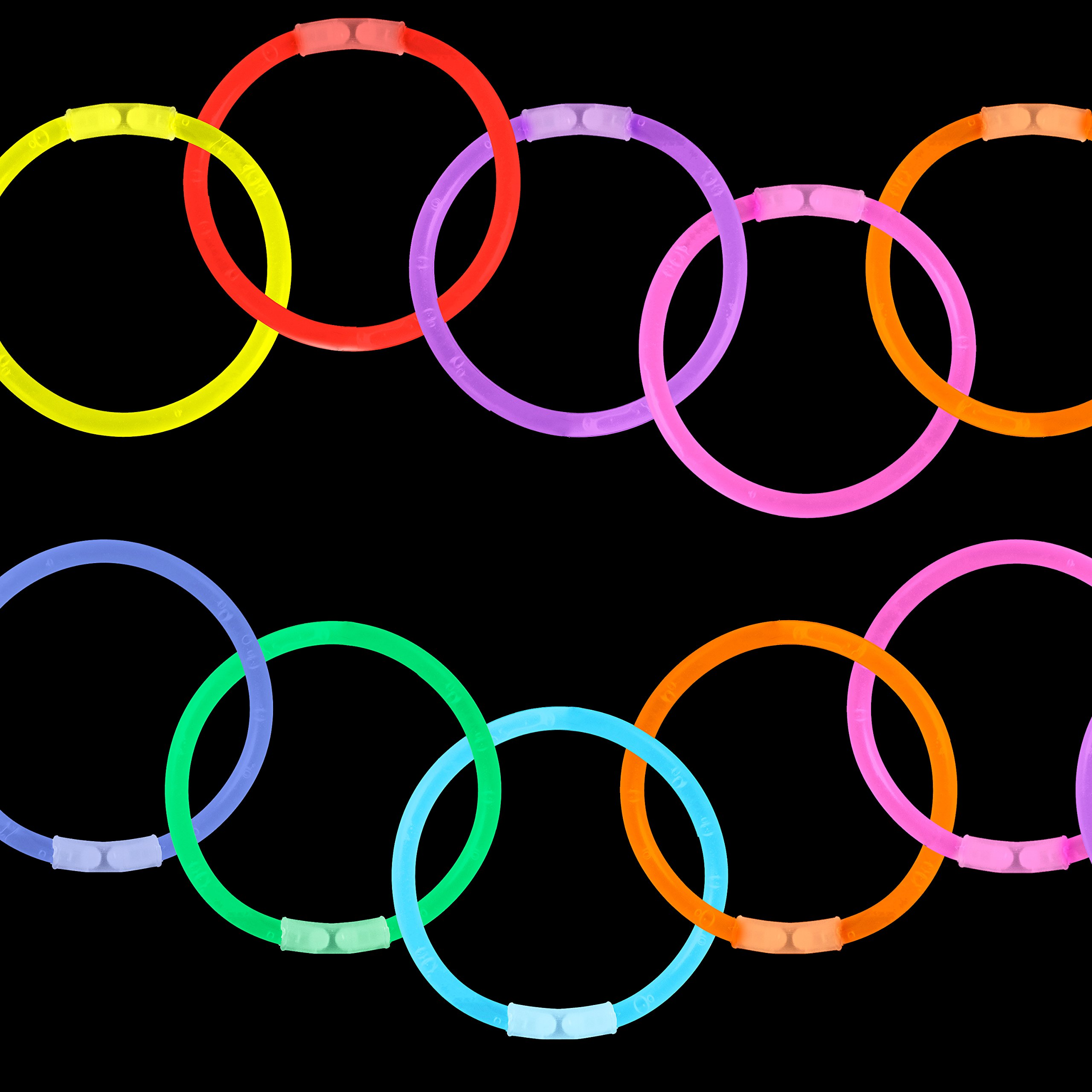 Lumistick Glow Sticks Variety Pack of Glowing Party Favors Includes Necklaces, Bracelets and Glasses (Assorted, 200 Packs) by Lumistick (Image #6)