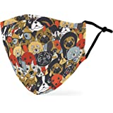 Weddingstar Washable Cloth Face Mask Reusable and Adjustable Protective Fabric Face Cover w/Dust Filter Pocket - Puppy…