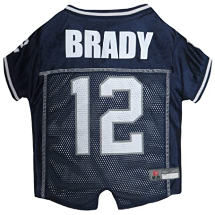 NFLPA Dog Jersey - Tom Brady  12 Pet Jersey - NFL New England Patriots Mesh 9b7225ab4