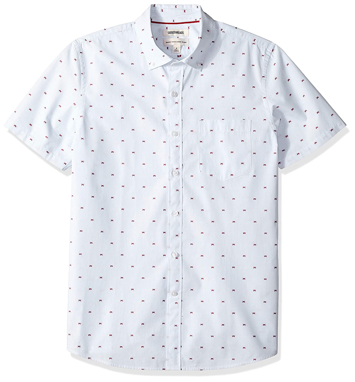Goodthreads Mens Standard-Fit Short-Sleeve Dobby Shirt Brand