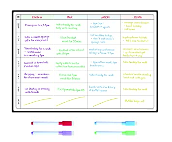 meal planner and action plan whiteboard by smartpanda large