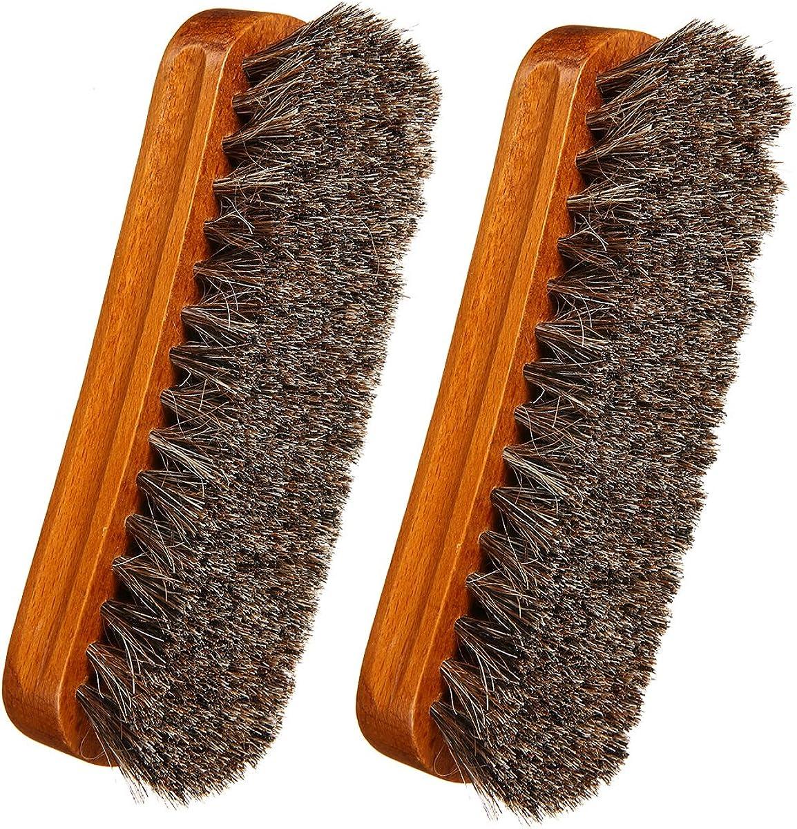 cinturones abrigos Gracosy Cabello de Caballo Zapatos Cepillos Buff /& Polaco piel chaquetas 2 Pcs de Madera de Gran Limpieza Pulido Cepillos de Caballo para Botas Zapatos limpia,brillo sombreros