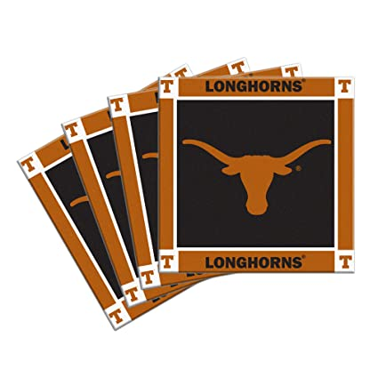 Amazon.com: NCAA Texas Longhorns 4-Pack Posavasos de ...