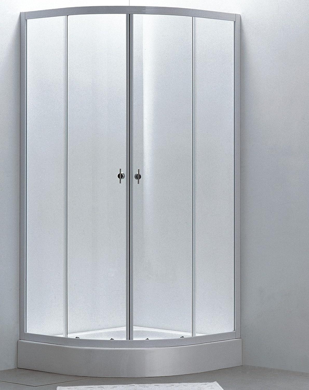 Mampara de baño de cristal impreso inoxidable mate, medidas: 90 x 90 mm: Amazon.es: Bricolaje y herramientas