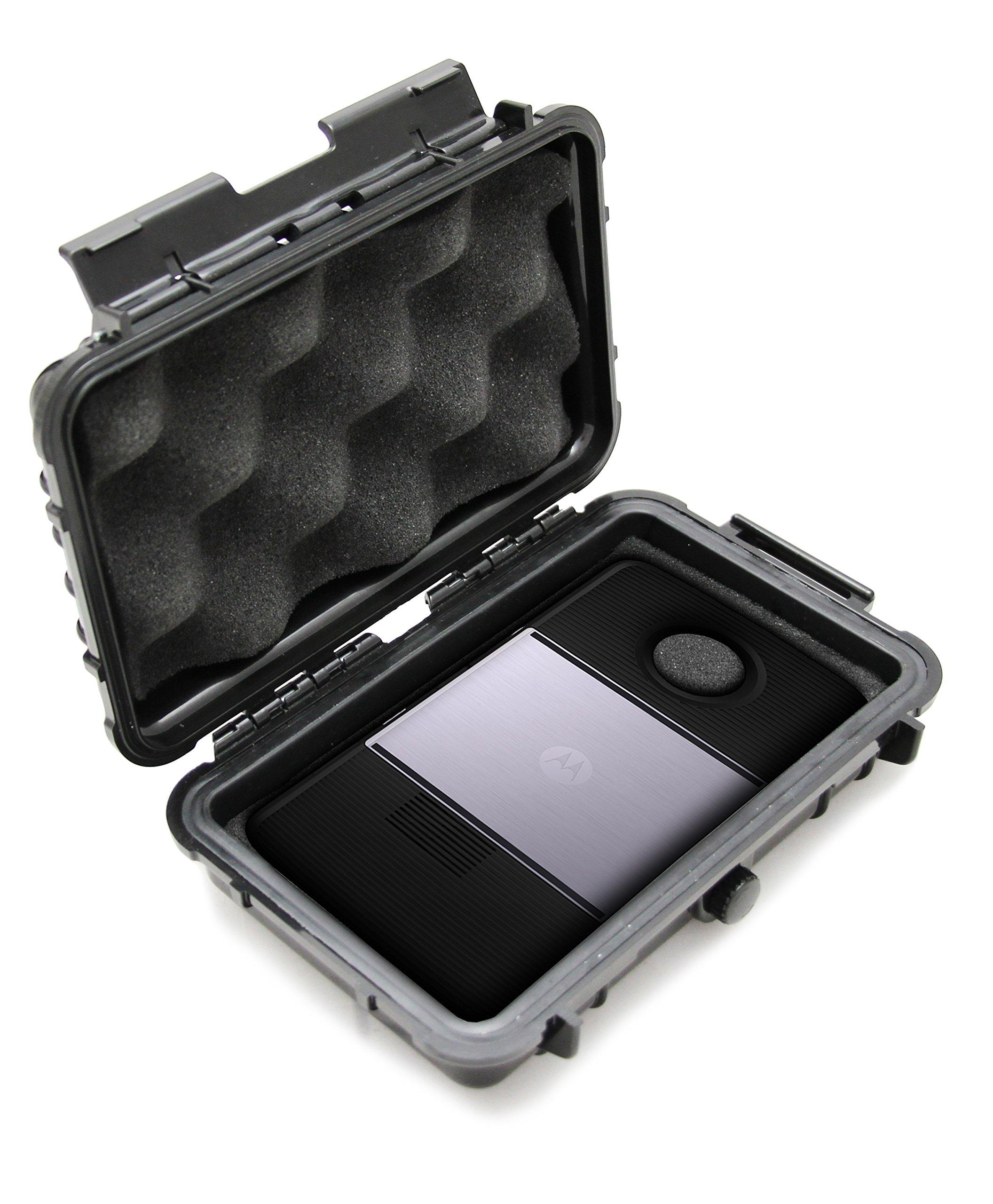 CASEMATIX Waterproof Moto Z Mod Case For Motorola Mod Hasselbad True Motion Camera , JBL SoundBoost Speaker , Insta-Share Projector , Smart Speaker With Amazon Alexa , Polaroid Insta-Share printer