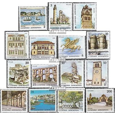 Grèce 1698A-1712A (complète.Edition.) 1988 capitales (Timbres pour les collectionneurs)