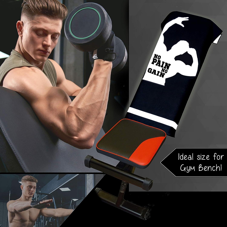 Hee-Star Toalla Gimnasio Hombre - Toalla de Microfibra Ideal para Fitness y Sala de Musculación - Toalla Deporte de Secado Rapido y Ultraligera - ...