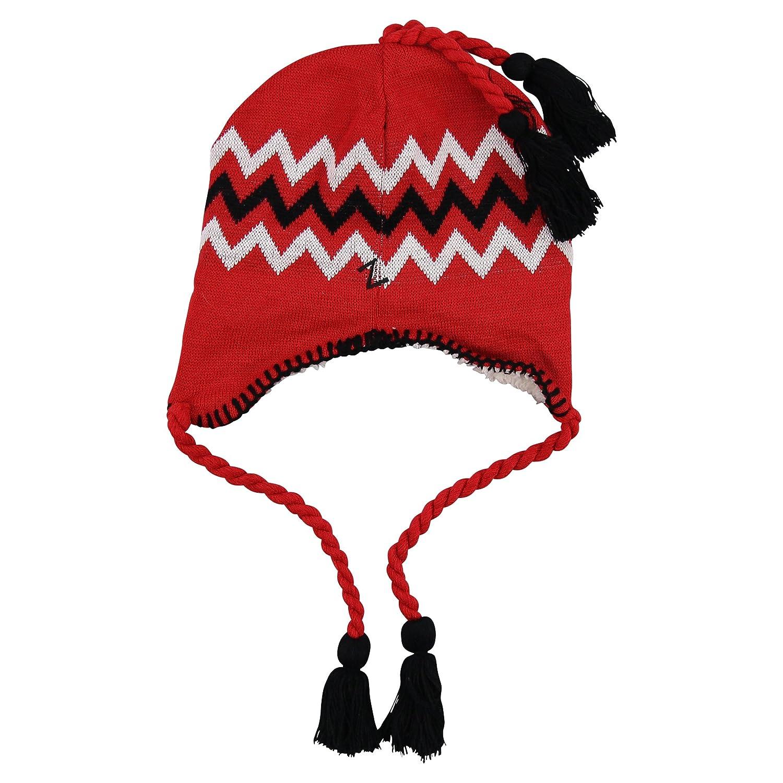 Zephyr NCAA Zig Zag Tassle Knit Cap