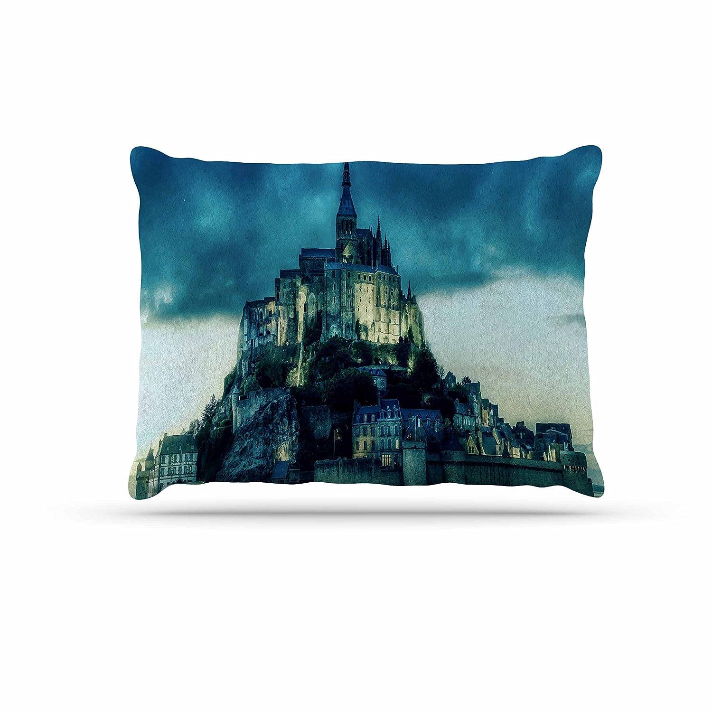 KESS InHouse 888 Design Haunted Castle bluee Fantasy Dog Bed, 50  x 40