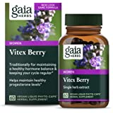 Gaia Herbs Vitex Berry, Chasteberry, Hormone Balance for Women, Vegan Liquid Capsules, 60 Count