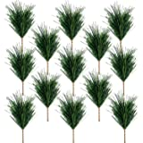 30 PCS Artificial Green Pine Needles Branches-Small Pine Twigs Stems Picks-Fake Greenery Pine Picks for Christmas Garland Wre