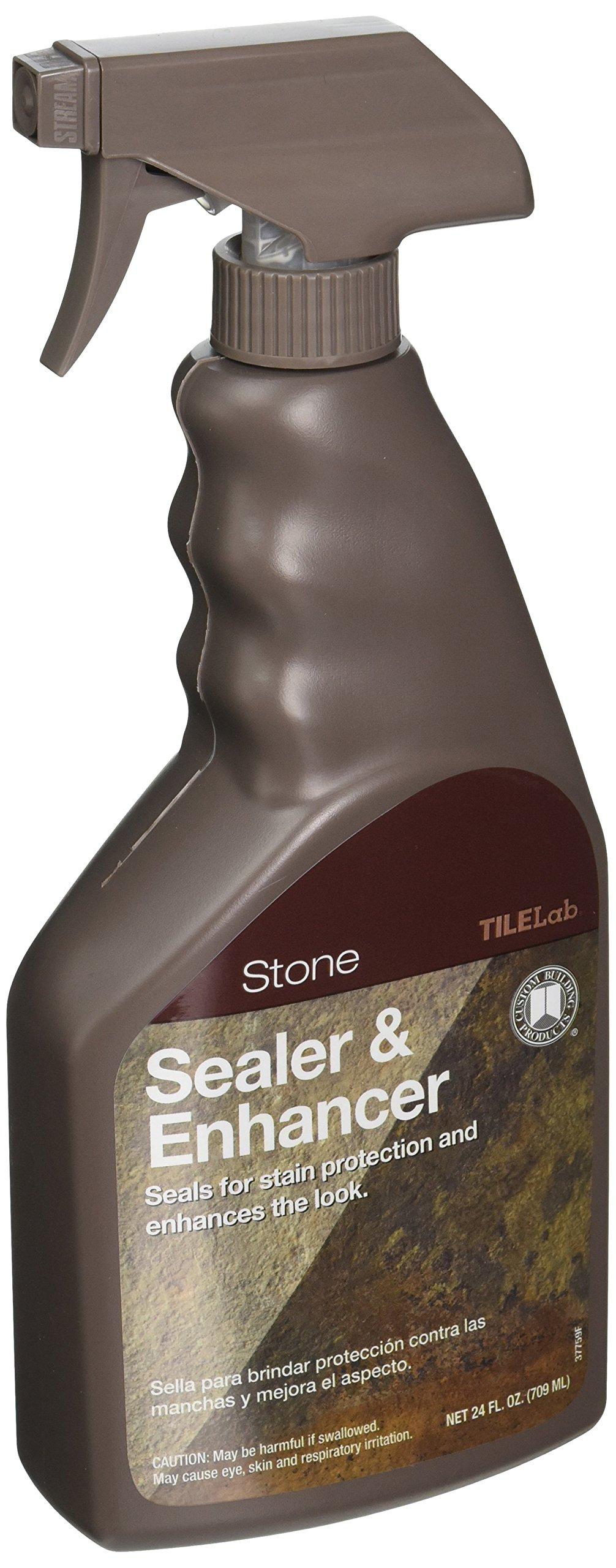 Custom BLDG Products TLSES24Z Tile lab StoneSealerandEnhancer, 24 Oz, Spray Bottle, Milky, Characteristic, Liquid, Clear by Custom Building Products