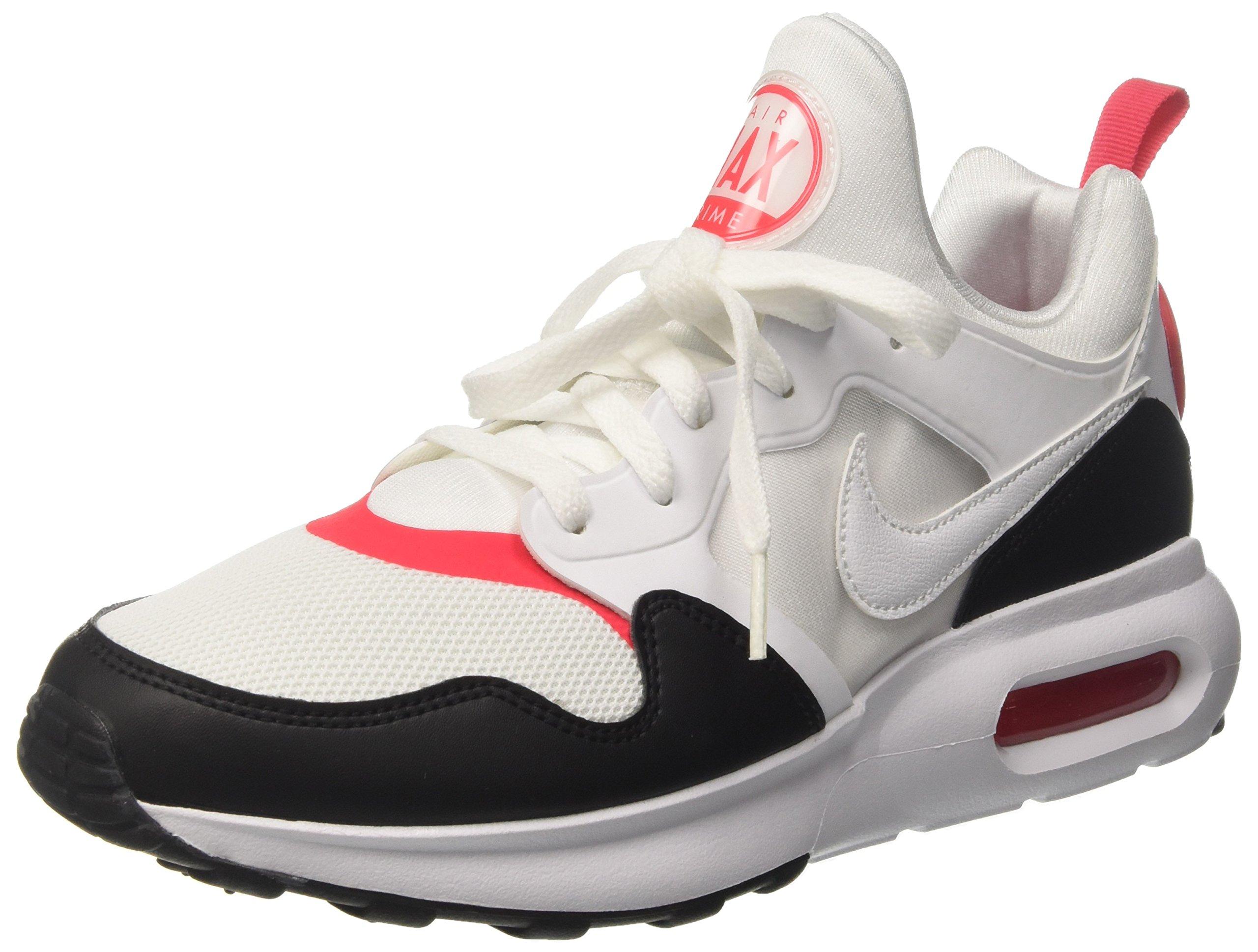 d16f99e92ac8a Galleon - Nike Men's Air Max Prime White/White Siren Red Black Running Shoe  9 Men US