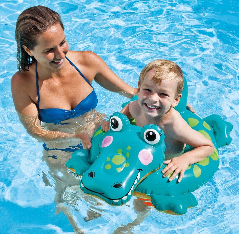 Intex Childs Kids Inflatable Animal Swim Ring Swimming Paddling