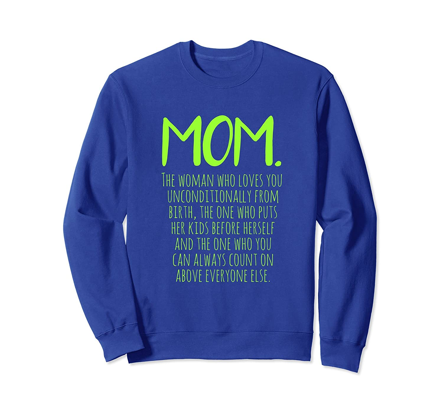 GIFT FOR MOM FROM DAUGHTER, MOM. SWEATSHIRT-fa