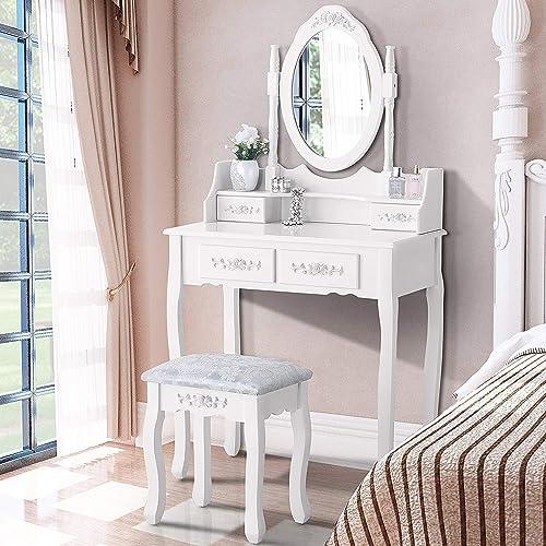 Mecor Vanity Table Set ,Makeup Table