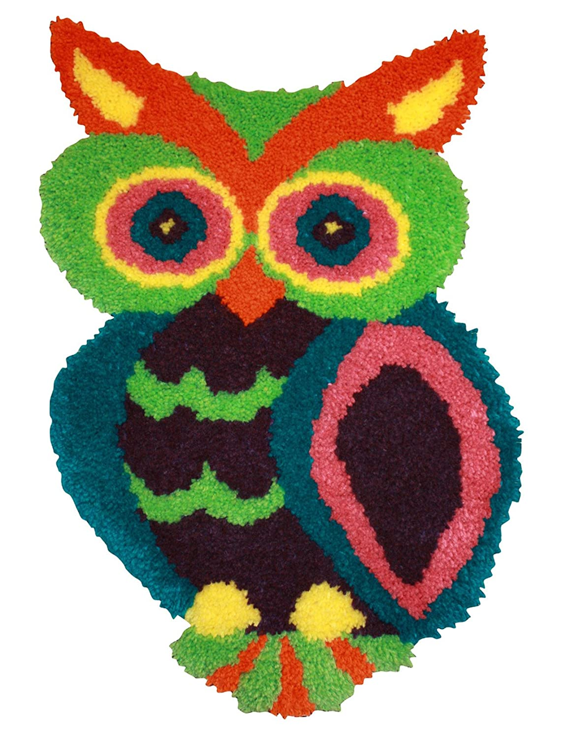 Amazon MCG Textiles 37723 Owl Shaped Latch Hook Rug Kit 185 By 27 Inch